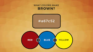 what colors make brown what two colors