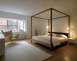 Modern Wood Four Poster Bed
