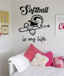Small Picture Softball Is My Life Version 1 Sports Decal Sticker Wall Vinyl
