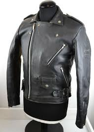 akito vintage mens leather motorcycle jacket classic size 38 small