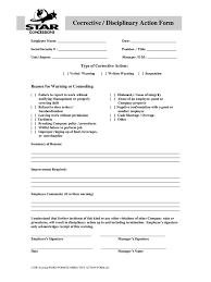 employee discipline template example of disciplinary action form