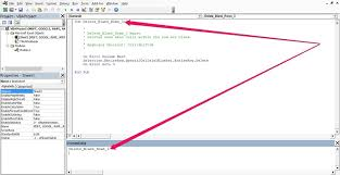 how to execute a vba sub procedure from imate window