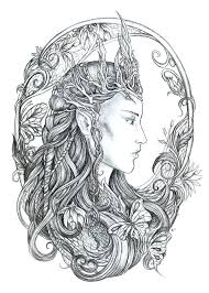 fantasy coloring pages for s elf printable