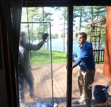 exterior door glass replacement replacing a sliding patio door fogged glass panel