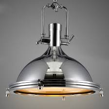 polished chrome dome pendant light with frosted glass diffuser for kitchen island barn restaurant