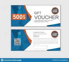 Personalised Gift Vouchers Templates Gift Voucher Vector Design Template For Printing Stock