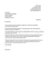 Job Resignation Template Day Notice Letter Template Of Resignation