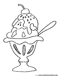 ice cream sundae coloring page.  Page Free Sundae Color Page Coloring And Ice Cream Sundae Coloring Page A