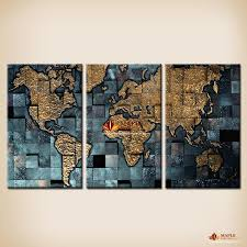 2018 modern wall art the abstract world map painting on canvas canvas prints painting pictures decor paintings for living room wall from maplepainting