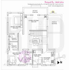 mail floorplan. Free Floor Plan And Elevation Of 1691 Square Feet 4 Bedroom Flat Roof Villa By AmVi Infra, Palakkad, Kerala Mail Floorplan A