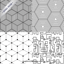 Pattern Collection Inspiration Geometrical Pattern Collection Vector Premium Download