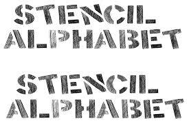 Stencil Letters Alphabet Stencils Free Premium Templates
