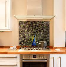 peacock kitchen splashback