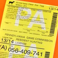 Pennsylvania Licenses O'bull June To 10th On Gazette Sale Hunting Full Go