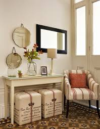 Decorative Wall Mirrors Idea Feat Contemporary Narrow Console Table