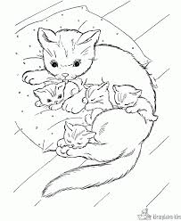 Kleurplaten Baby Katjes