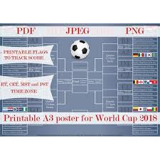 Soccer Playing Time Chart 2018 World Cup Schedule World Cup Wall Chart Soccer Russia