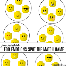Free Printable Lego Emotions Spot The Match Game Lil