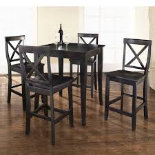 vintage dining room design with 5 piece crosley kitchen pub tables set small square black