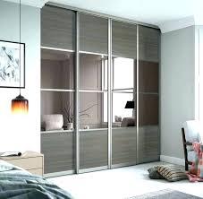 mirrored closet doors sliding mirror contractors wardrobe home depot