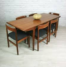 younger fonseca retro vine teak mid century dining table 6 chairs 1950s 60s ebay