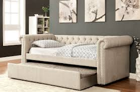 beige upholstered daybed - CA1027F