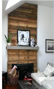 pallet wood fireplace almost finished with my pallet wood fireplace makeover