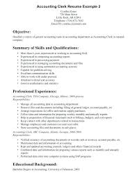 Accounts Clerk Resume Professional Summary For Accounting Clerk Resume Account Liquor
