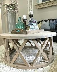 gorgeous rustic round farmhouse coffee table by modernrefinement rusticfurnitureideas round coffe table coffee table books decor