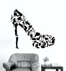 fashion wall art high heels shoes wall art stickers living room creative decor footwear shoes