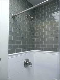 white glass tile shower blue glass tile shower gray glass subway tile kitchen dreams from blue