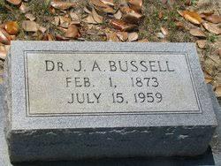 Dr James Alexander Bussell (1873-1959) - Find A Grave Memorial