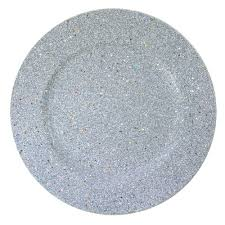 charger plates decorative: the jay companies  inch round silver glitter polypropylene charger plate