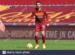 Leonardo Spinazzola von Roma während der Serie A Fußballspiel zwischen Roma  und Udinese im Olimpico-Stadion in Roma, Italien. , . Februar 14, 2021.  (Foto: IPA/Sipa USA) Quelle: SIPA USA/Alamy Live News Stockfotografie -