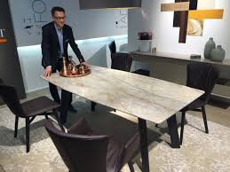 expandable dining table with marble top