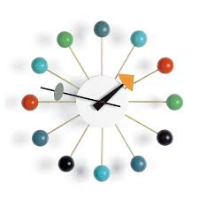 vitra ball clock cherry  winter promotion by george nelson