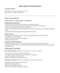 Shoe Store Sales Associate Resume Example Retail Letsdeliver Co