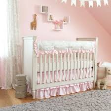 gold and pink crib bedding baby