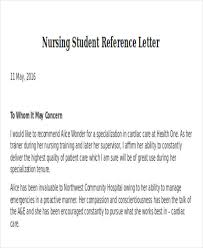 letter of recommendation template for nursing student nursing reference letter templates 8 free word pdf format