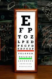 Vintage Eye Chart Light Box Vintage Eye Chart Gocare Co