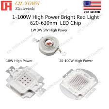 1W <b>3W 5W 10W 20W</b> 30W 50W 100W Red 620-630nm High Power ...