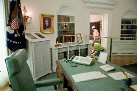 lbj oval office. A Replica Of The Oval Office At LBJ Presidential Library Is Being Refurbished. Lbj
