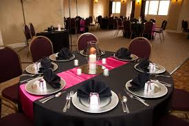 Our pink black table setting black pink pearls - Black table settings