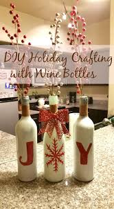 How To Decorate A Wine Bottle For Christmas Gorgeous DIY Holiday Crafting with Wine Bottles Bottle Wines 63