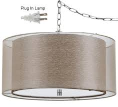 double drum swag light 18 w