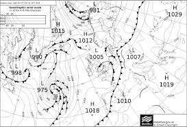 North Atlantic Weather Charts 14 A Synoptic Weather Chart Showing Fronts Over The North