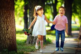 Wallpaper Little girls Boys Joy Smile ...