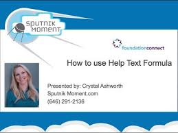 How to use Help Text Formula - Salesforce FoundationConnect - YouTube