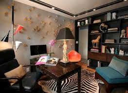 eclectic design home office. Brilliant Home Eclectic Home Office Accent Wall Design With M