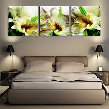 canvas wall art 3 panel wall painting flower white lily modern painting floral pictures for living on white floral canvas wall art with canvas wall art 3 panel wall painting flower white lily modern